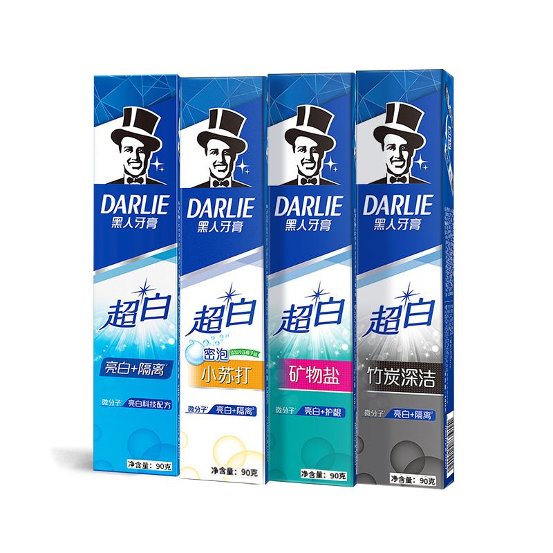 【黑人】超白小苏打牙膏6只装共480g券后24.9元包邮